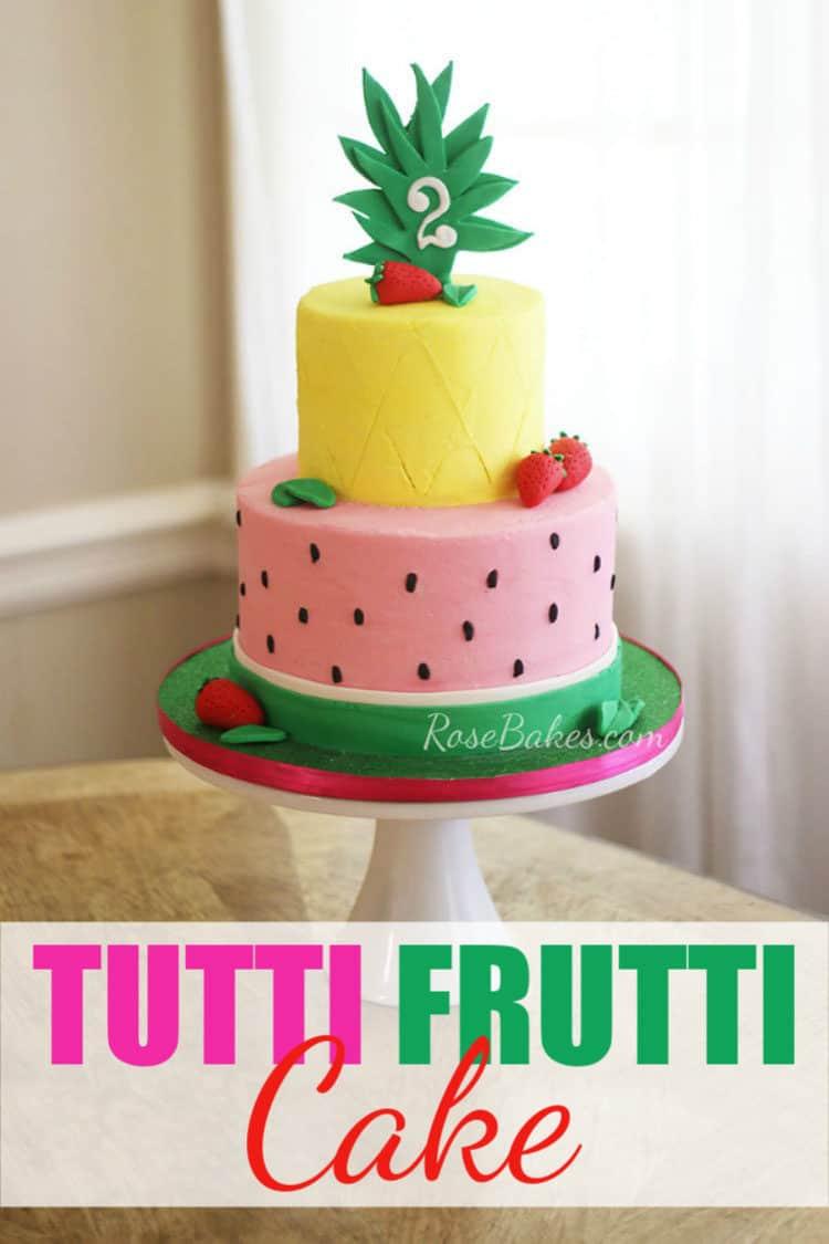 Groovy Tutti Frutti Cake How To Freeze A Decorated Buttercream Cake Funny Birthday Cards Online Drosicarndamsfinfo