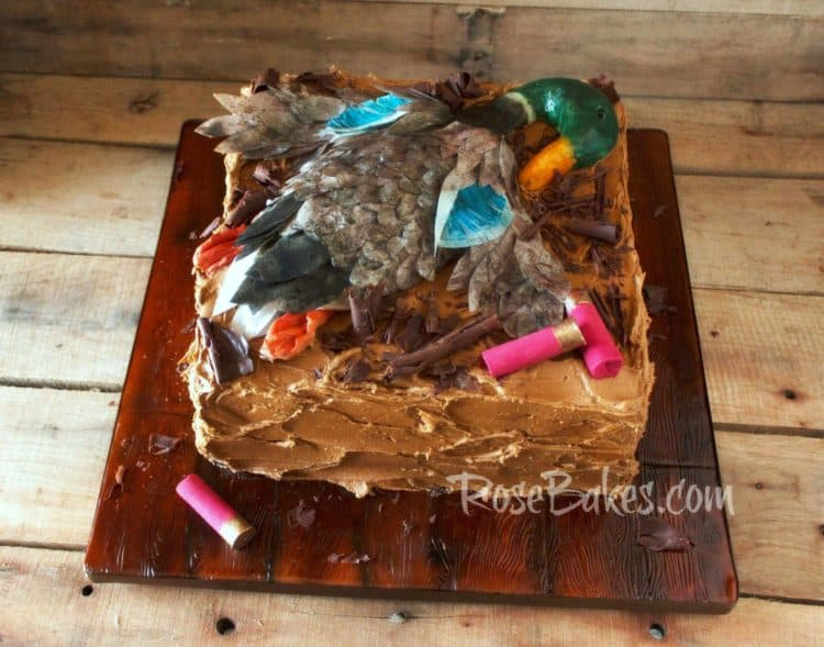 dead duck on duck hunting groom's cake