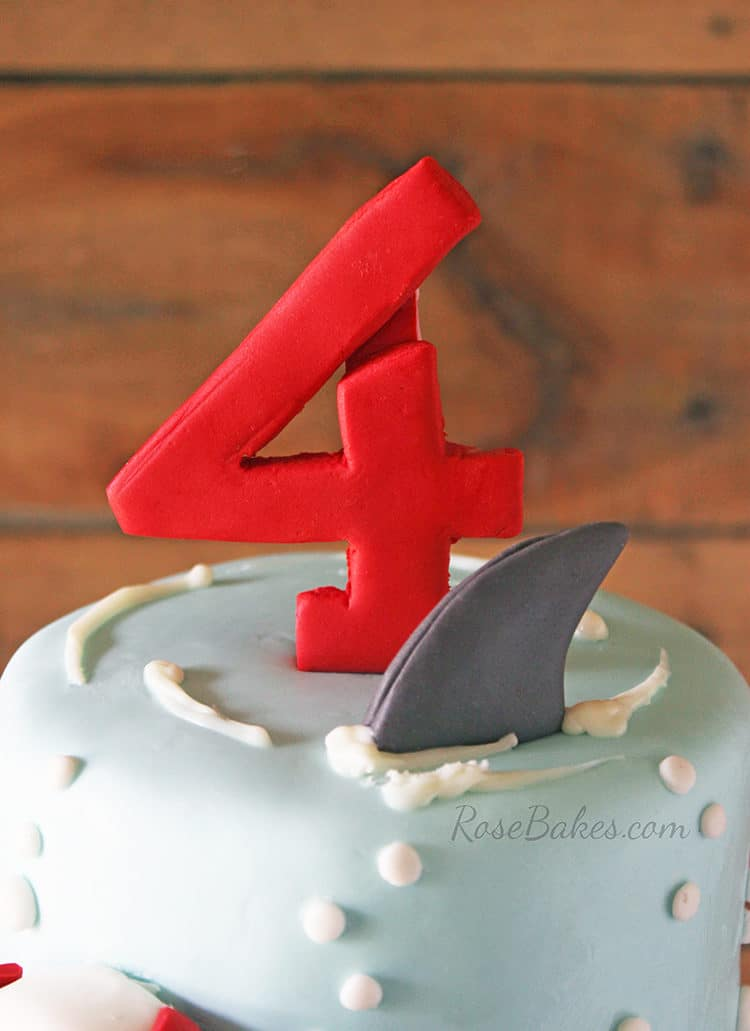 shark fin on cake topper