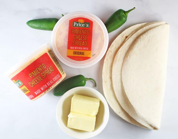 Price*s Pimento Cheese, fresh jalapenos, tortillas butter