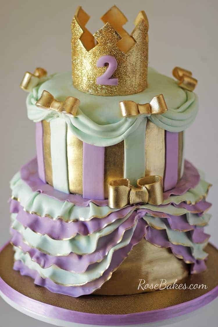 Lavender Gold Mint Green Princess Cake Free Template For The