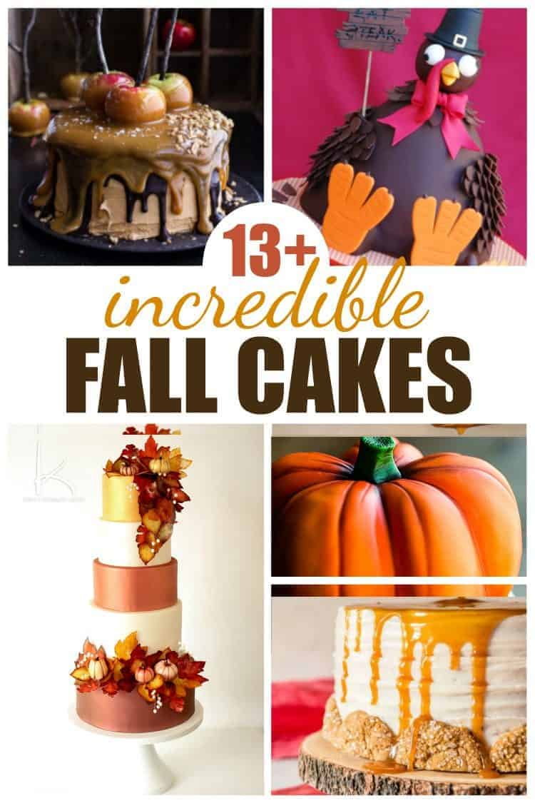 13+ Incredible Fall Cakes Collage