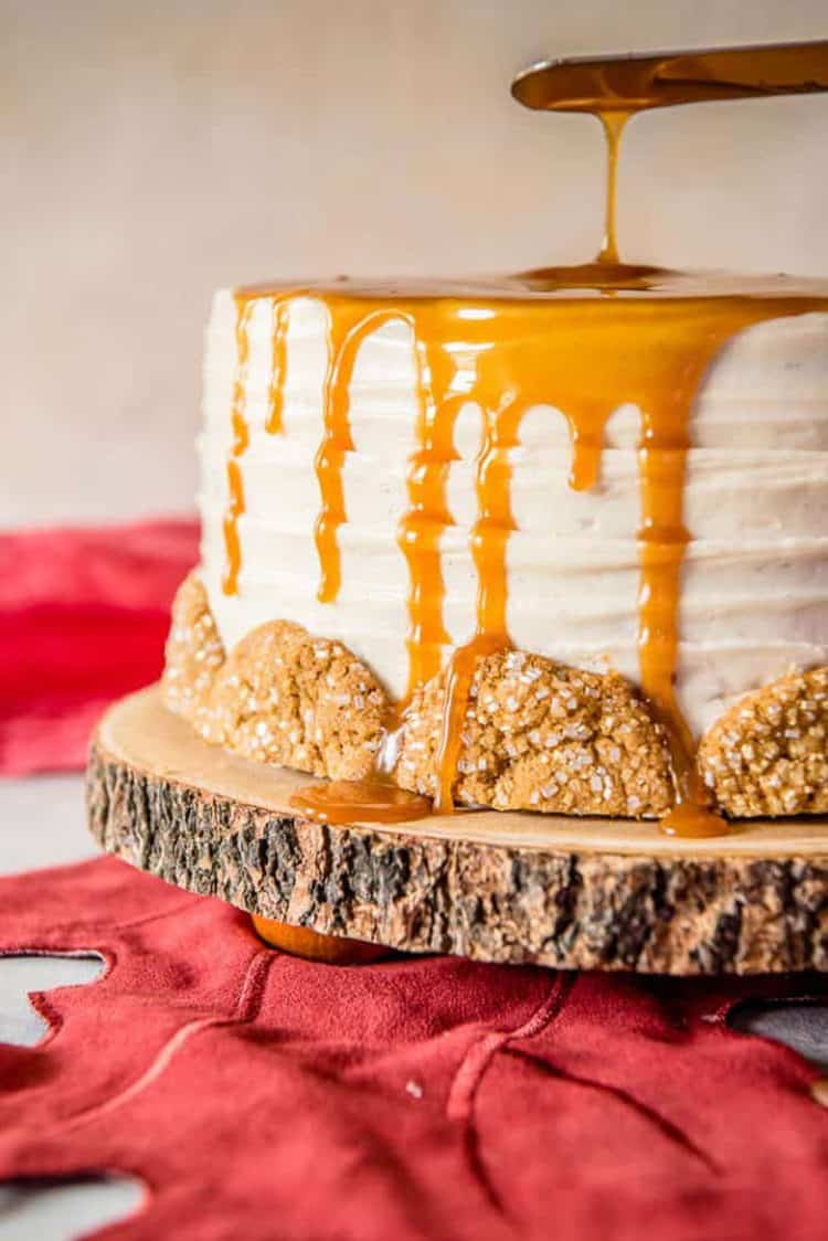 Bourbon Caramel Spice Cake for Incredible Fall Cakes post