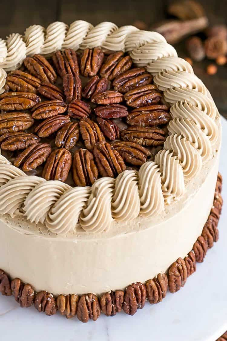 Pecan Pie Cake for Incredible Fall Cakes post