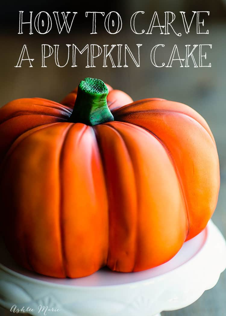 How to Carve a Pumpkin Cake for Incredible Fall Cakes Post