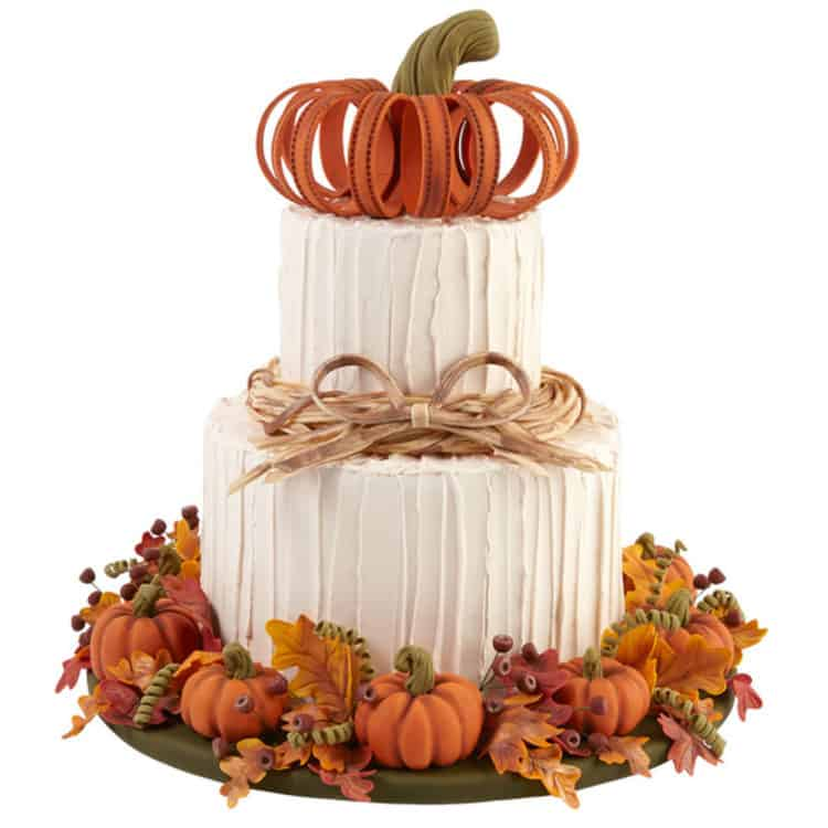Pumpkins and Fall Foilage Cake for Incredible Fall Cakes post