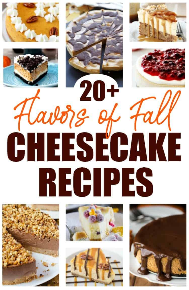 Cheesecake collage of 20+ cheesecake recipes