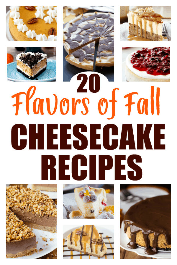 Fall Cheesecake Recipes Collage with Text