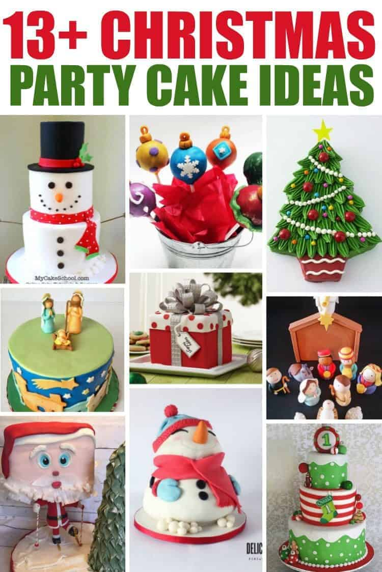 Christmas Party Cakes collage