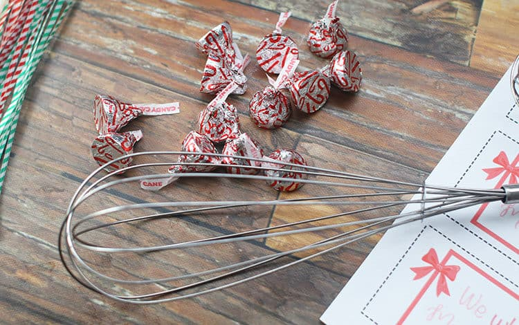 whisk with Hershey kisses for We Wish You a Merry Christmas Gift idea