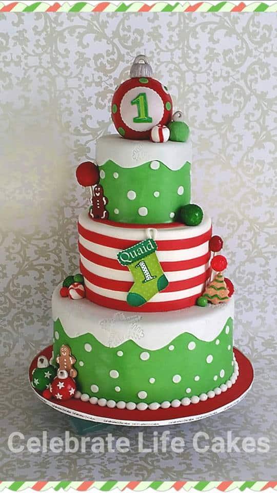 First Birthday Christmas Cake