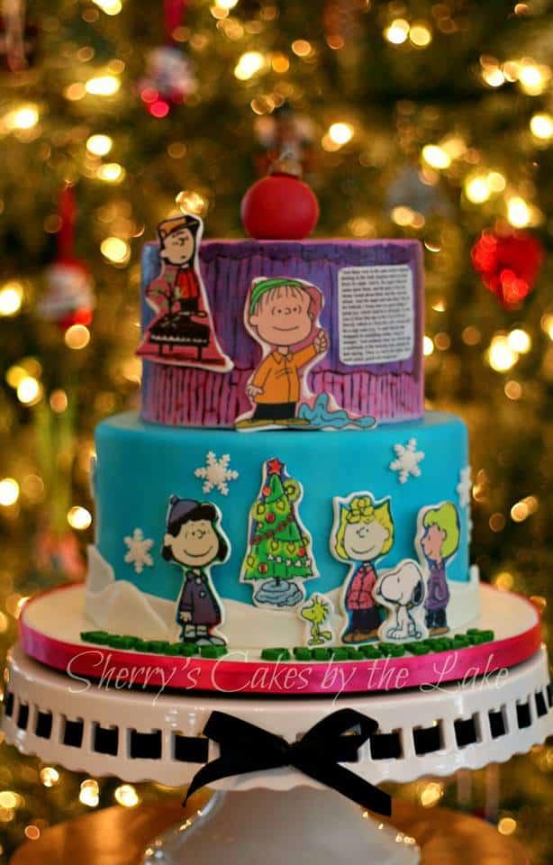Charlie Brown Christmas Cake