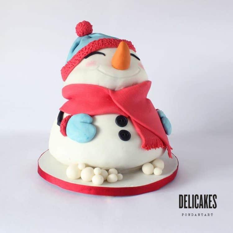 Chubby Snowman Christmas Cake