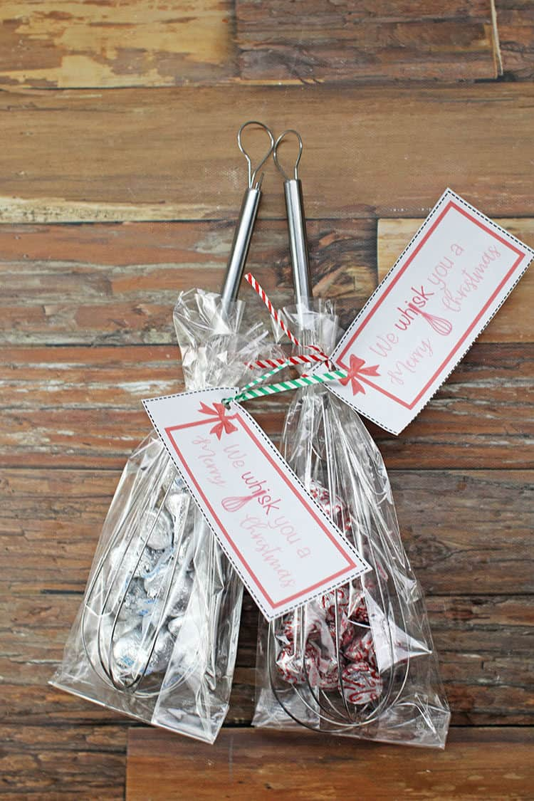 Whisks with Kisses inside - We Whisk You a Merry Christmas Gift Idea
