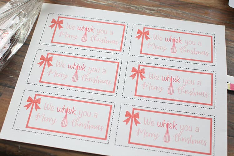 We Whisk You a Merry Christmas (Free Gift Tags)