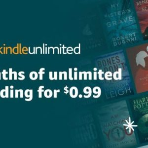 Kindle Unlimited only $.99 for 3 Months!