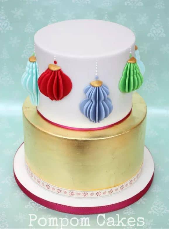 Christmas Paper Lanterns Cake