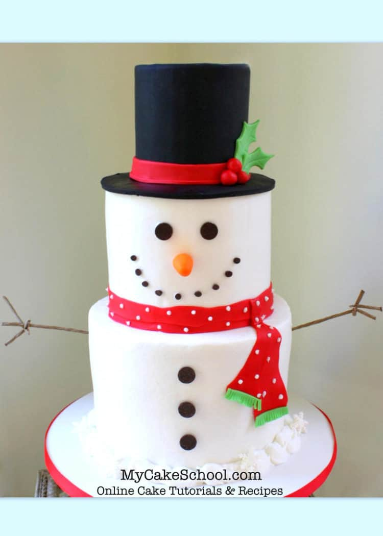 Tiered Snowman Cake
