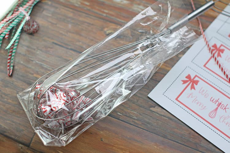 We Whisk You a Merry Christmas Gift Idea whisk with Kisses in Bag