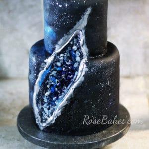 Geode Galaxy Cake
