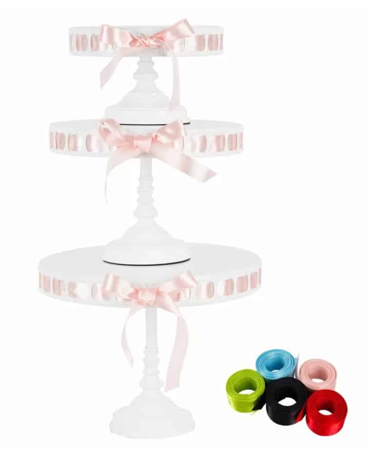 Cake Stands with Ribbons