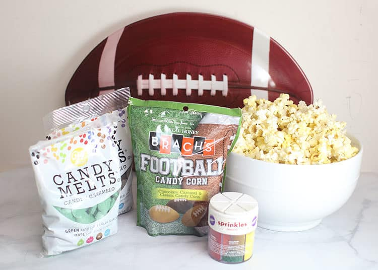 Ingredients to make Football Party Popcorn Snack Mix