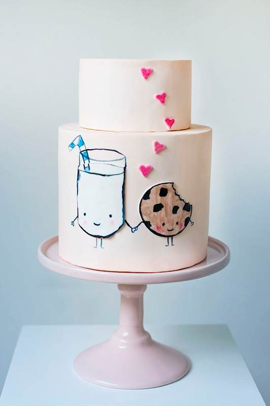 13+ Valentine's Cakes | Cookies & Milk Valentine's Cake