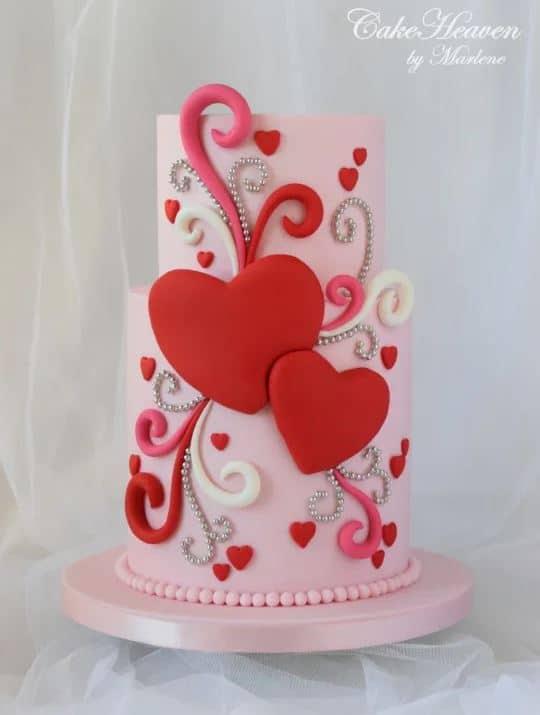 13+ Valentine's Cakes | Whimsical Hearts Valentines Cake