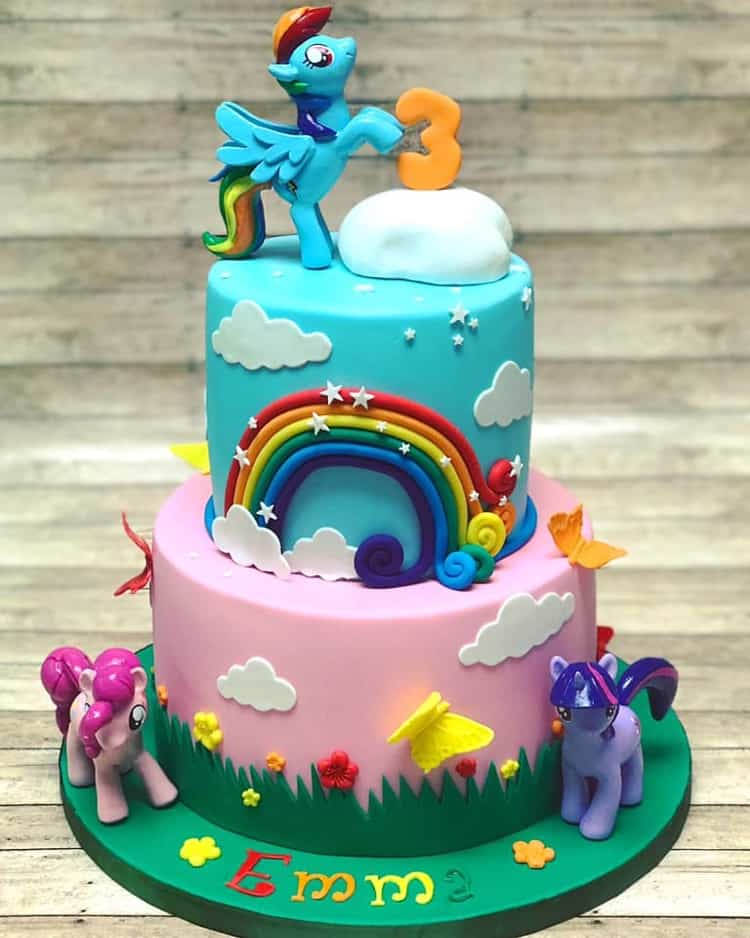 My Little Pony Cake with Rainbow