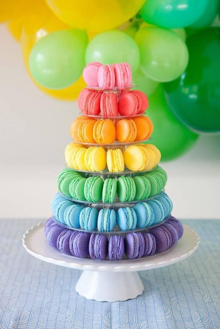Rainbow Macaron Tower