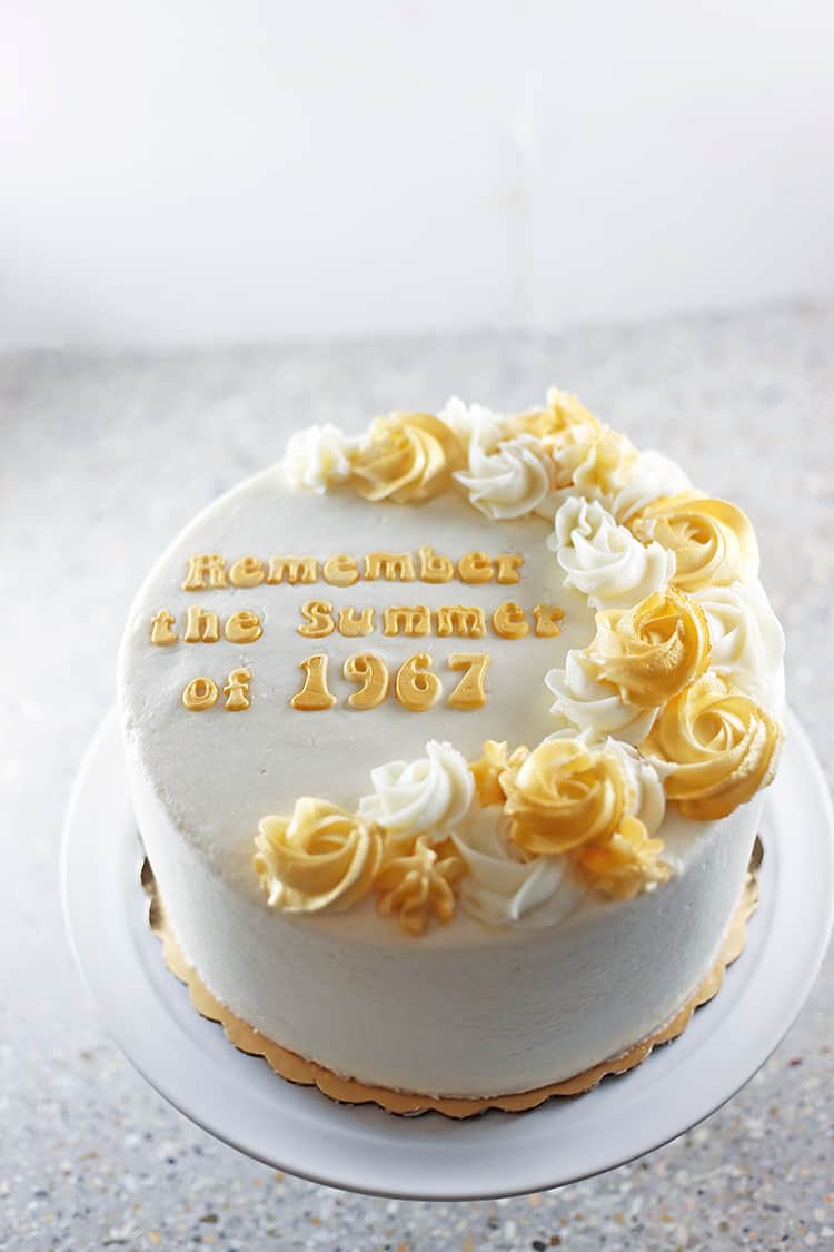 50th Wedding Anniversary Cake How to Make Shimmery Buttercream Roses