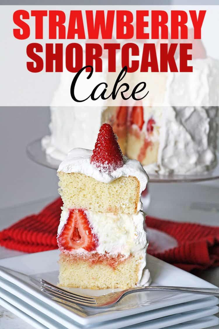 Awesome Strawberry Shortcake Cake Rose Bakes Personalised Birthday Cards Veneteletsinfo