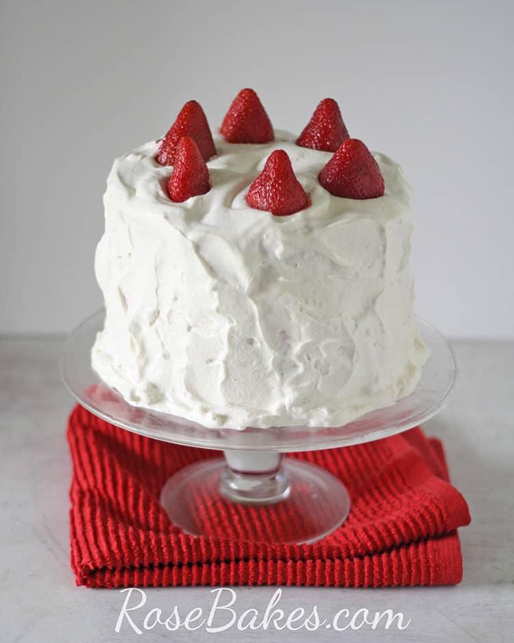 Whole STRAWBERRY SHORTCAKE CAKE wiht fresh strawberries