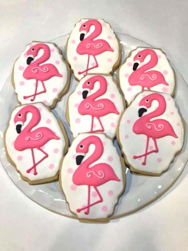 Flamingo Cookies by Rita Marra