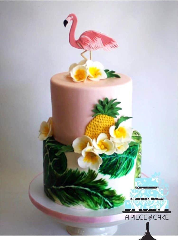 Tropical Flamingo Cake by A Piece of Cake