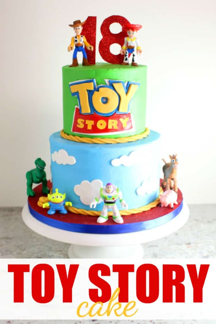 Toy Story Cake for Toy Story 4 Movie with buttercream and fondant