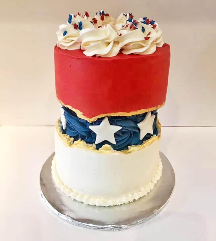 15+ Fault Line Cakes that WOW - Red White and Blue Fault Line Cake