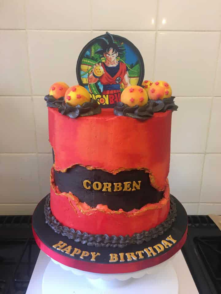 15+ Fault Line Cakes that WOW - Dragonball Z Birthday Fault Line Cake