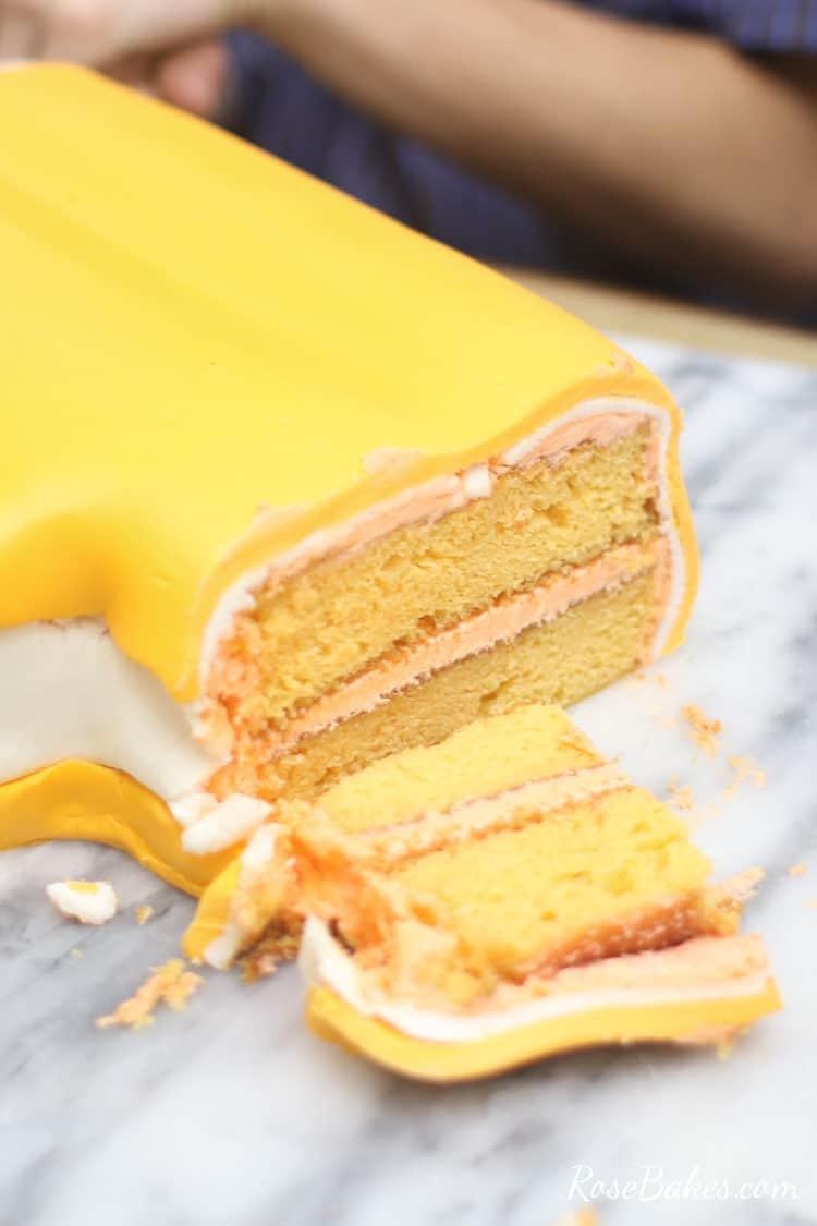 orange creamsicle cake or dreamsicle cake with orange creamsicle cake on the inside and vanilla buttercream
