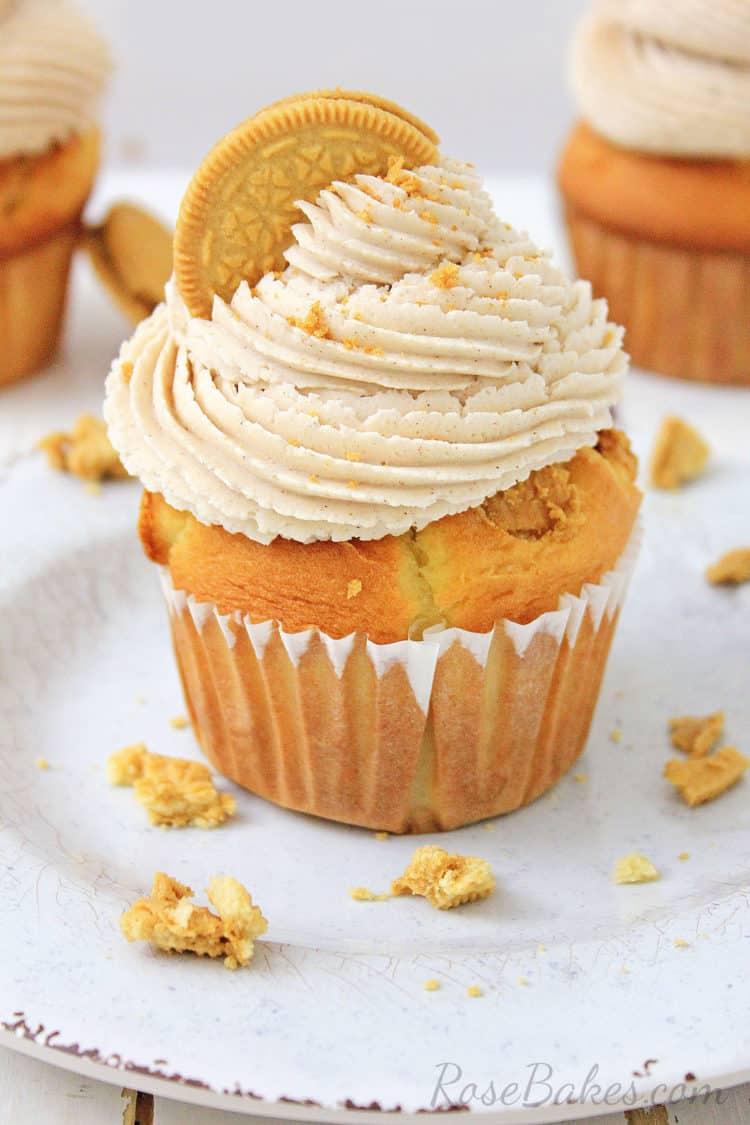 OREO Maple Creme Cupcake on a white plate
