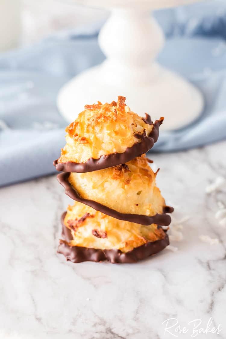 Coconut Macaroon Cookies Rose Bakes