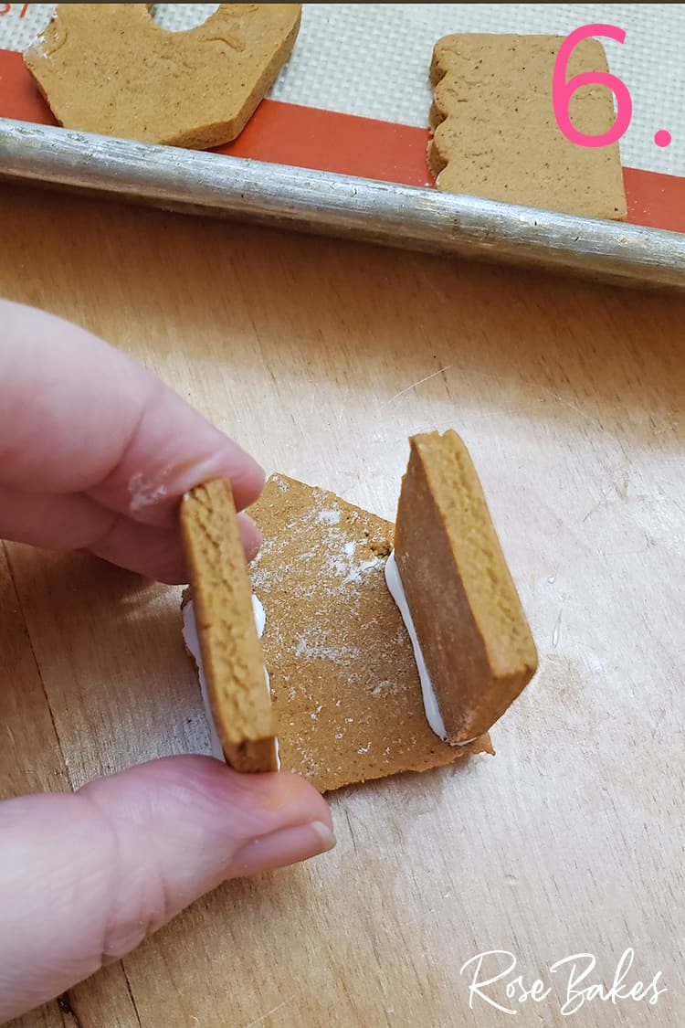 Building a mini gingerbread house