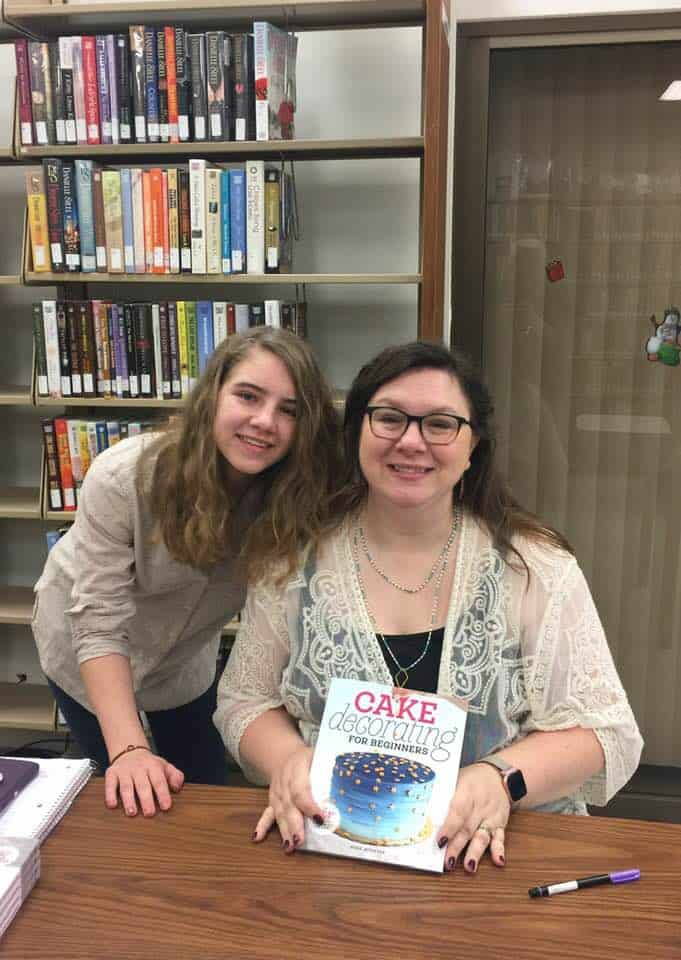 Rose and her daughter, Sarah, at the book signing