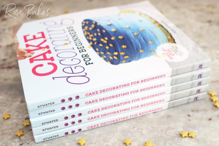 Stack of Cake Decorating for Beginners books