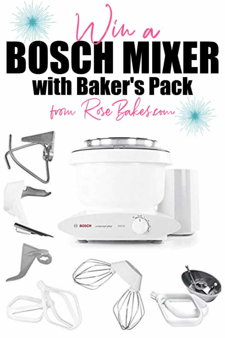 Win a Bosch Mixer with Baker's Pack image