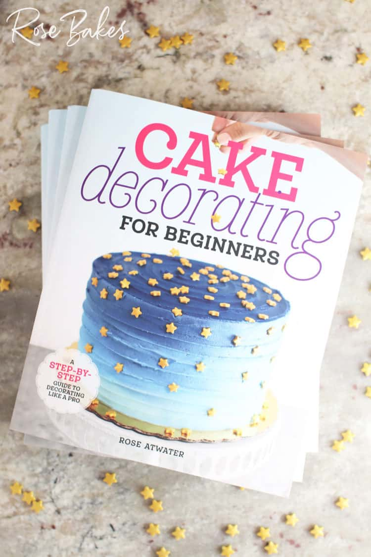 Cake Decorating for Beginners books and star sprinkles
