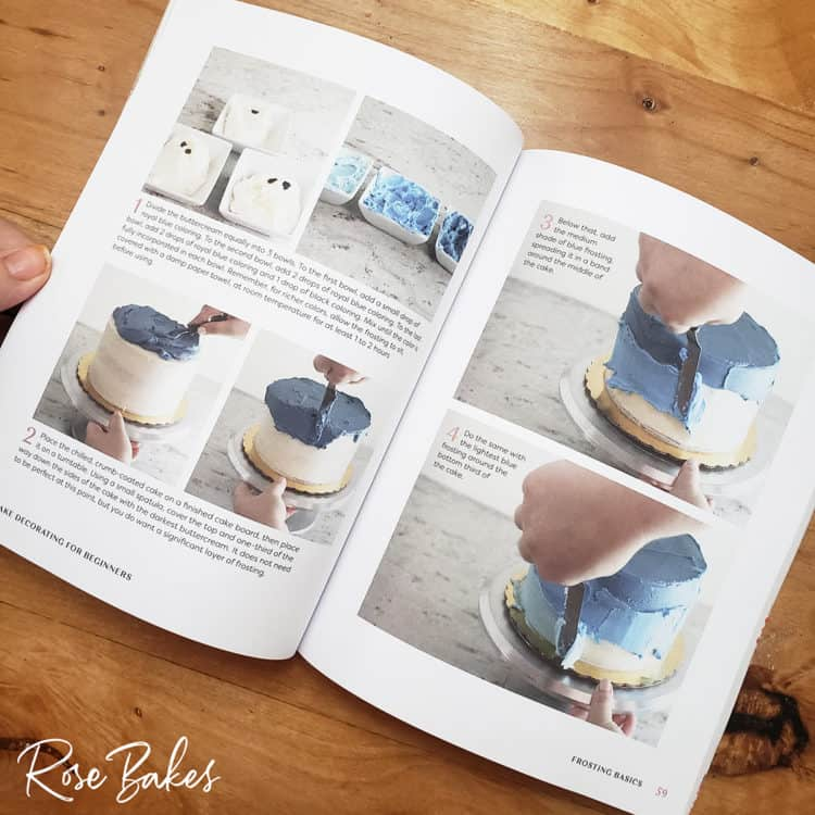 tutorial pictures from Cake Decorating for Beginners book
