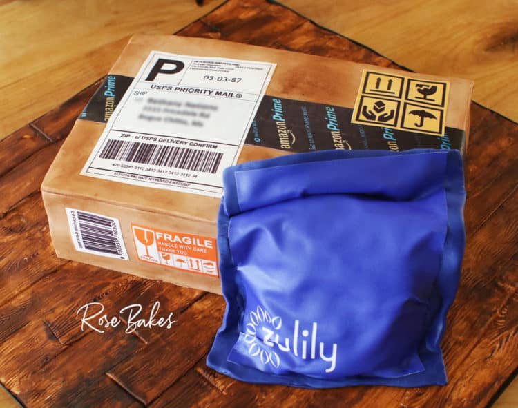 Amazon Box Cake with Zulily Package - all edible
