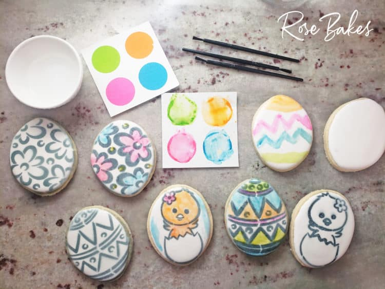 Partially decorated cookies for a How to Sell Paint Your Own (PYO) Cookie Sets - No Cookie Decorating Required!