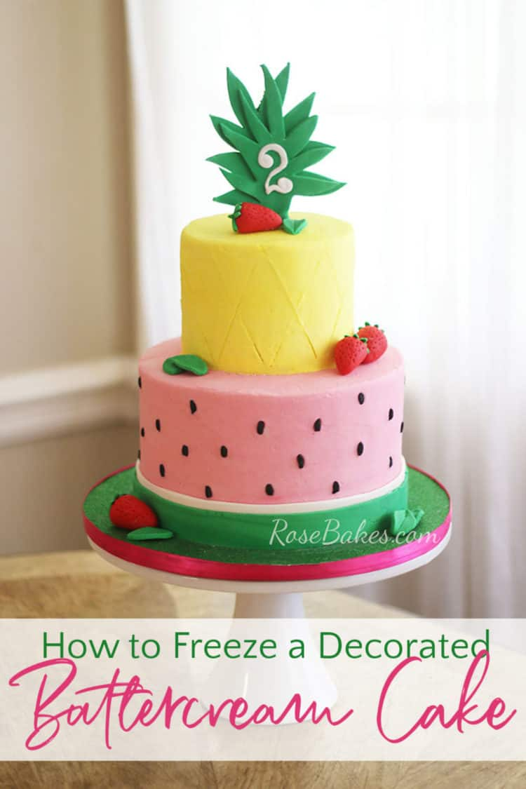 How to Freeze a Decorated Cake